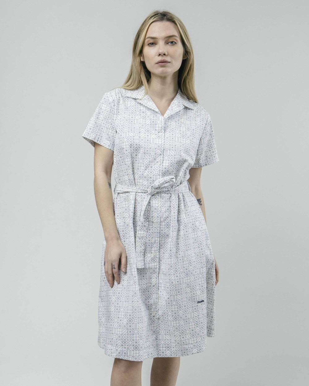 Portuguese tiles shirt dress - Brava Fabrics