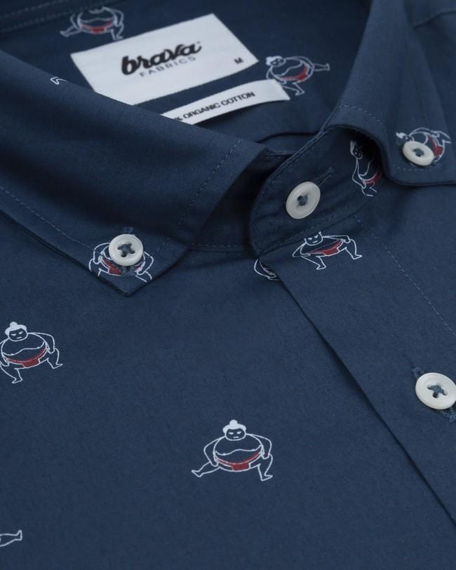 Sumo boy navy printed shirt - Brava Fabrics num 2
