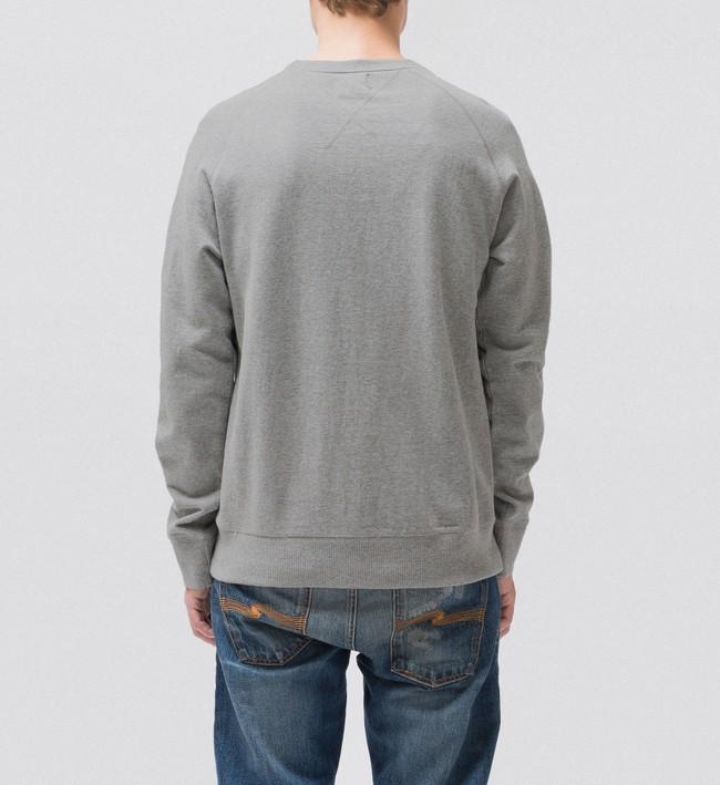 Sweat gris en coton bio - samuel - Nudie Jeans num 3