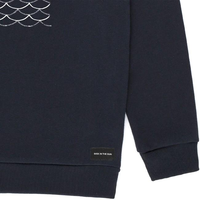 Sweat en coton bio black to the sea - Bask in the Sun num 1