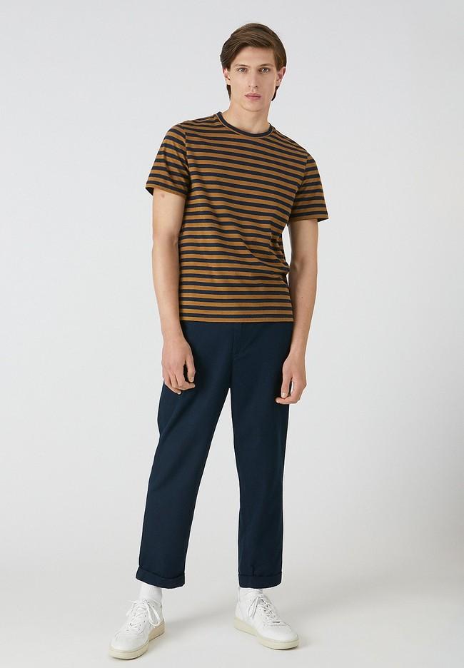 T-shirt rayé en coton bio - jaames breton - Armedangels num 1