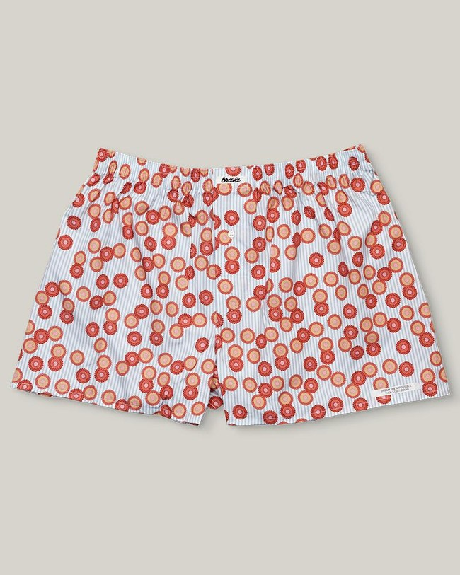 Lotus on a lake boxer - Brava Fabrics
