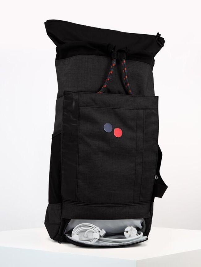 Sac à dos noir anthracite en plastique recyclé - blok medium - pinqponq num 5