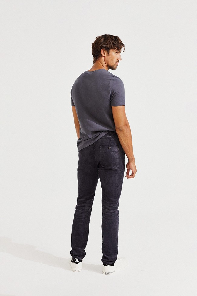 T-shirt gris imprimé jaune en coton bio - natal classic because - Ecoalf num 3