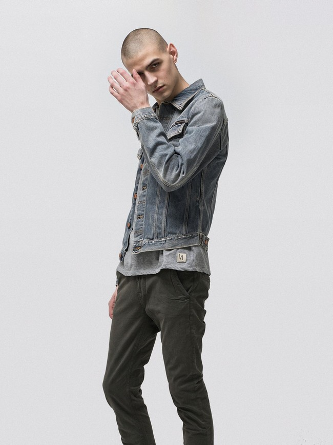 Veste en jean coton bio - billy shimmering - Nudie Jeans num 1