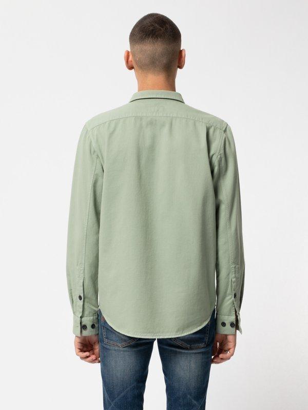 Chemise vert pâle en coton bio - henry - Nudie Jeans num 3