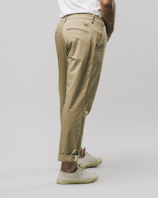 Pleated chino pants beige - Brava Fabrics num 2