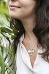 Collier fleur barleria en argent recyclé - Elle & Sens - 1