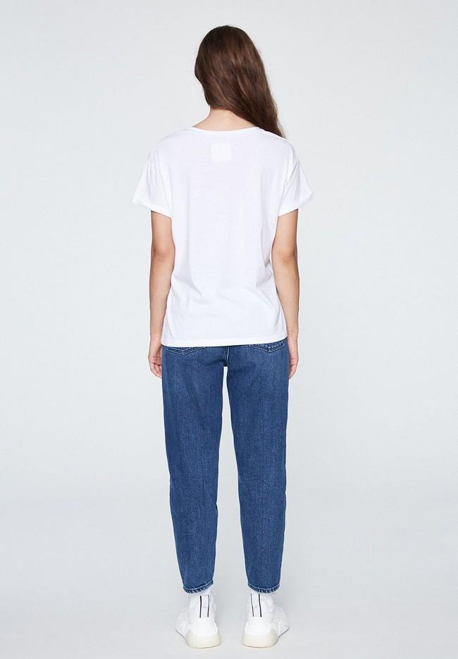 T-shirt blanc coton bio - naalin - Armedangels num 4