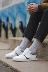 Chaussure en glencoe cuir blanc / suède gris clair - Oth - 6