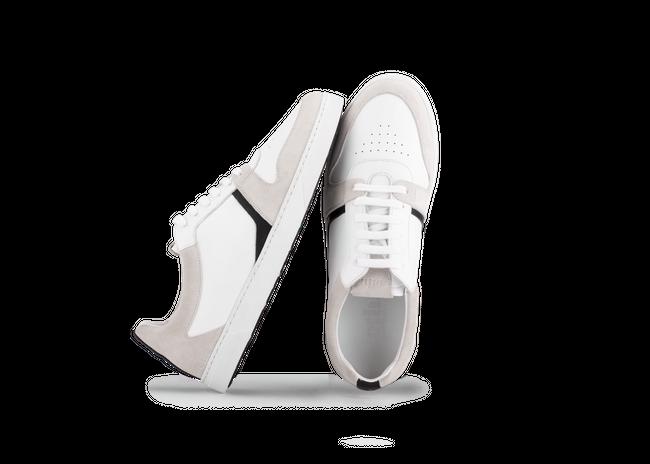Chaussure en glencoe cuir blanc / suède off-white - Oth num 1