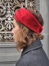 Bandeau cheveux velours rouge - Les Récupérables - 3