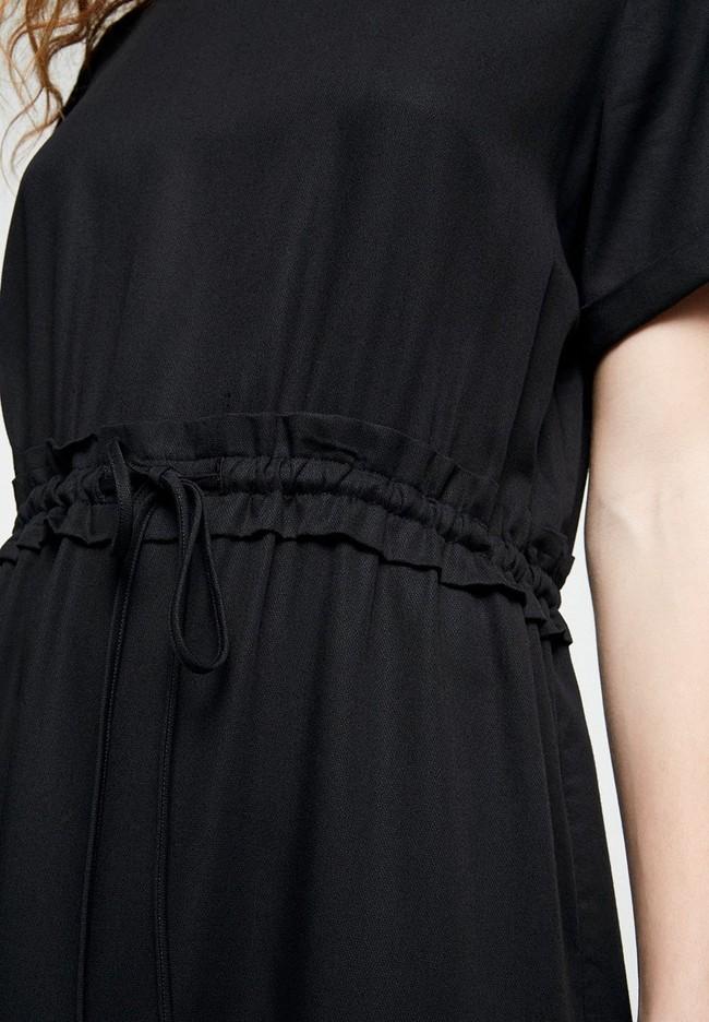 Robe noire en tencel - aalia - Armedangels num 3