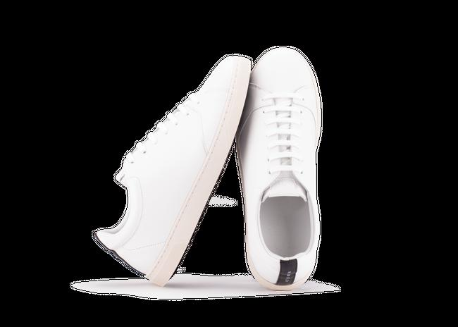 Chaussure en gravière cuir blanc / semelle off-white - Oth num 1