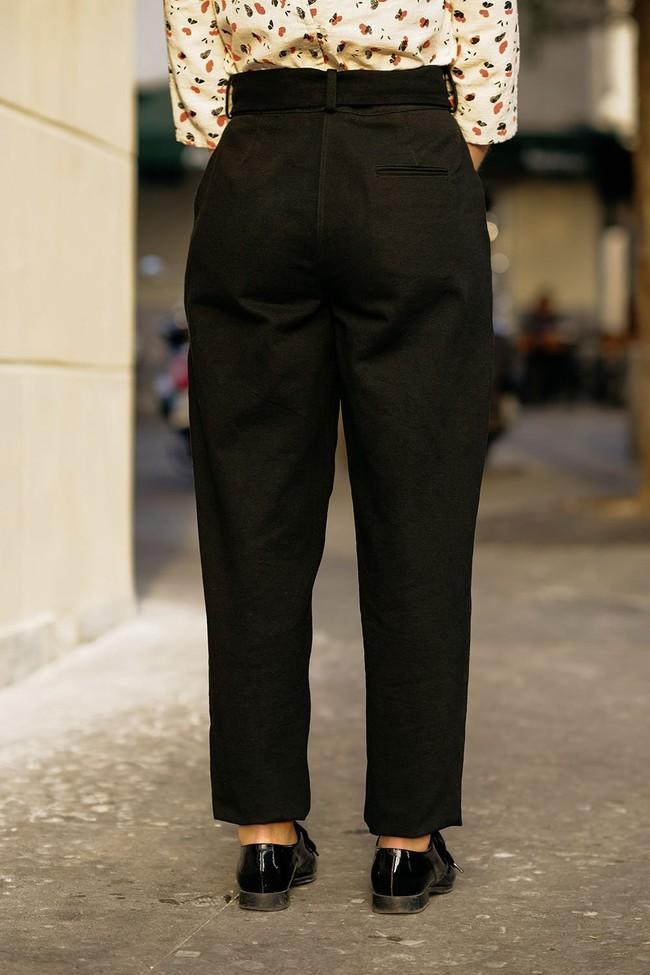 Le Pantalon Zephyr Noir en coton bio - Atelier Unes num 3