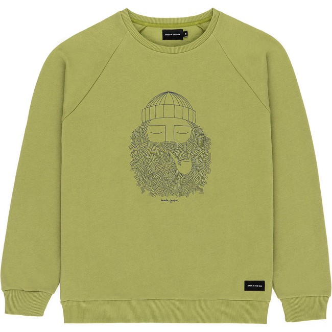 Sweat en coton bio olive smoking pipe - Bask in the Sun