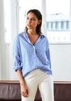 Chemise beaulieu // bleu à pois blanc - Bagarreuse - 1