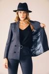 Veste tailleur boston tartan bleu - 17h10 - 3