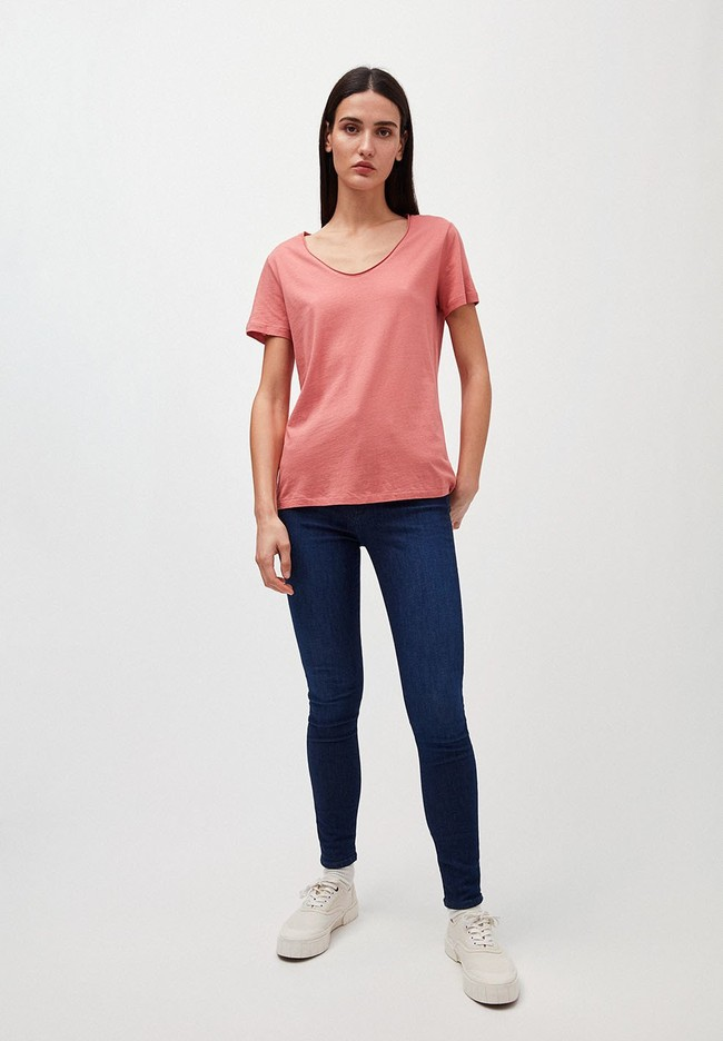 T-shirt rose en coton bio - haadia - Armedangels num 3