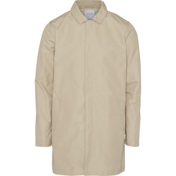Manteau long écru en coton bio et nylon recyclé - Knowledge Cotton Apparel