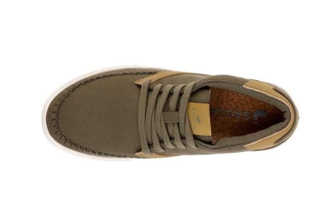 Chaussures recyclées atacama olive - Saola num 4