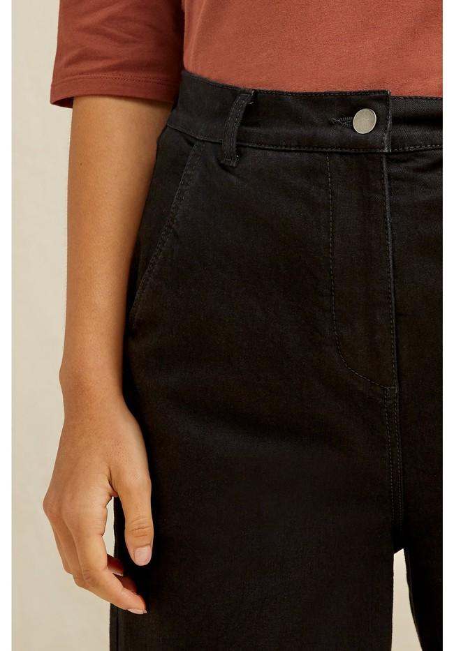 Pantalon ample noir en coton bio - rochelle - People Tree num 1