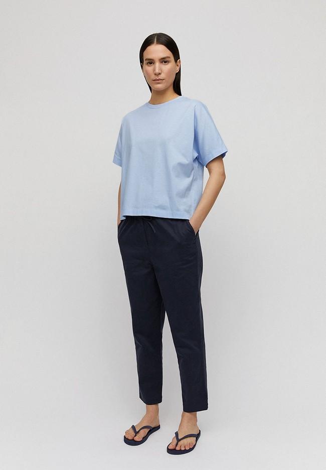 T-shirt bleu ciel en coton bio - kajaa - Armedangels num 2