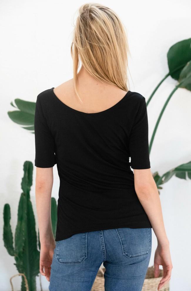 T-shirt jasmin noir - Avani num 1