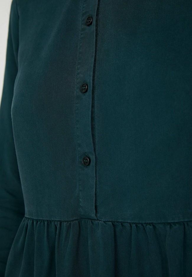 Robe patineuse vert bouteille en tencel - hallaa - Armedangels num 3