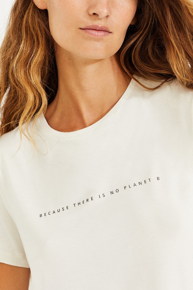 T-shirt écru en lenzing - going - Ecoalf num 2