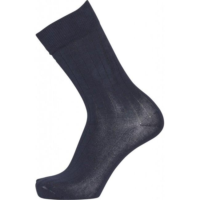 Pack 2 paires de chaussettes hautes rouge bordeaux et bleu marine en coton bio - timber - Knowledge Cotton Apparel num 1