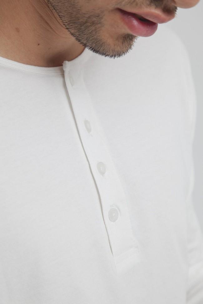T-shirt blanc manches longues coton biologique - pristine basic baker tee - Thinking Mu num 3