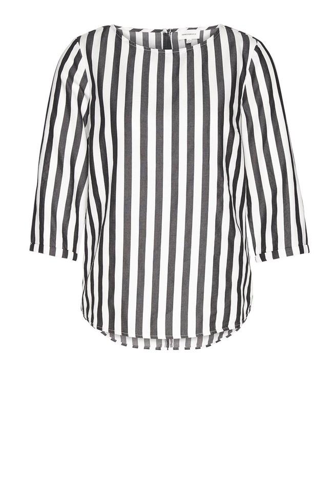 Blouse rayée noire en tencel - heddaa big stripes - Armedangels num 1