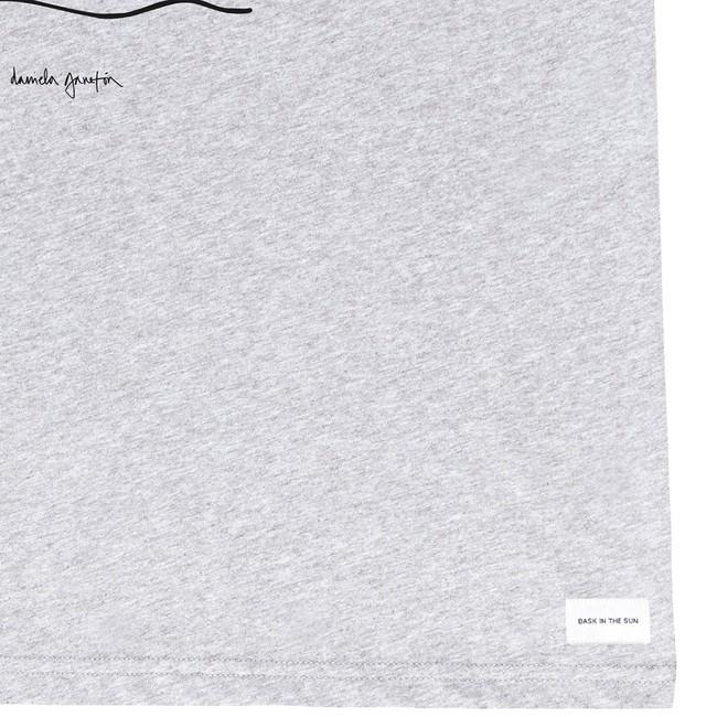 T-shirt en coton bio grey camino - Bask in the Sun num 3