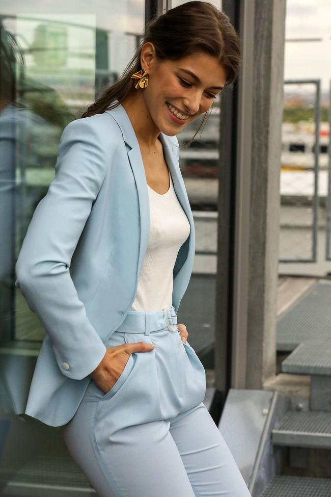 Veste tailleur paris bleu pastel - 17h10 num 4