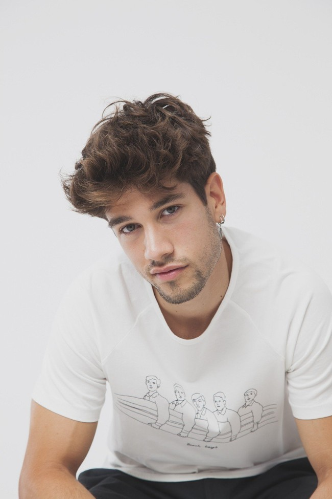 T-shirt en coton bio beach boys - Thinking Mu num 1