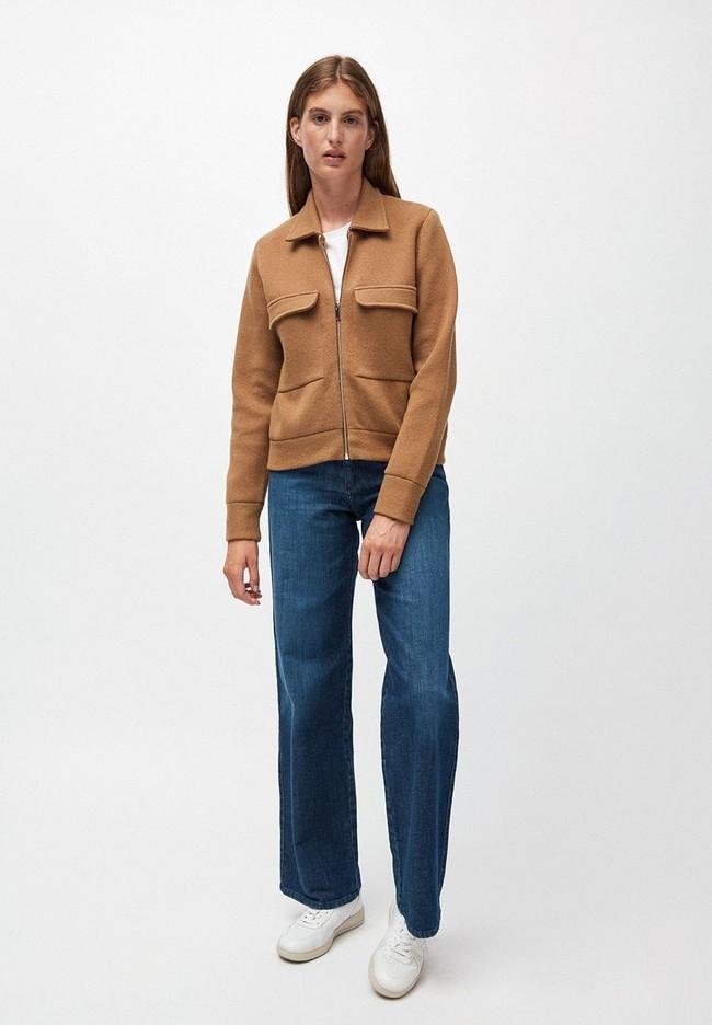 Veste marron en coton et laine bio  - alondraa - Armedangels num 3