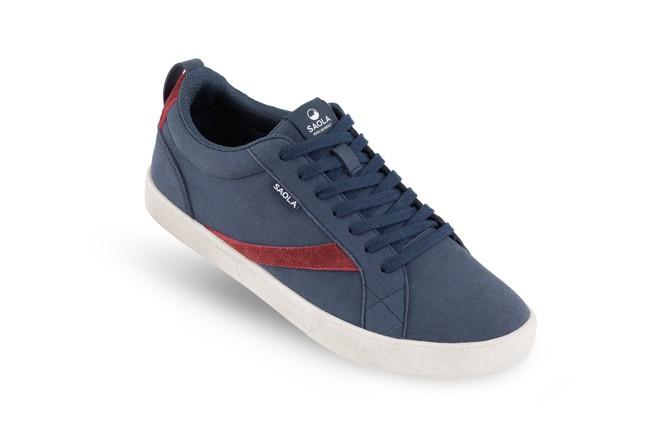 Chaussures recyclées cannon homme bleu - Saola num 2