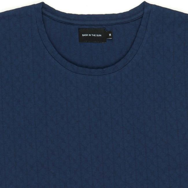 T-shirt en coton bio navy aimar - Bask in the Sun num 1