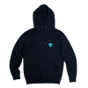 Navy hoodie • blue logo - Omnia in uno - 5