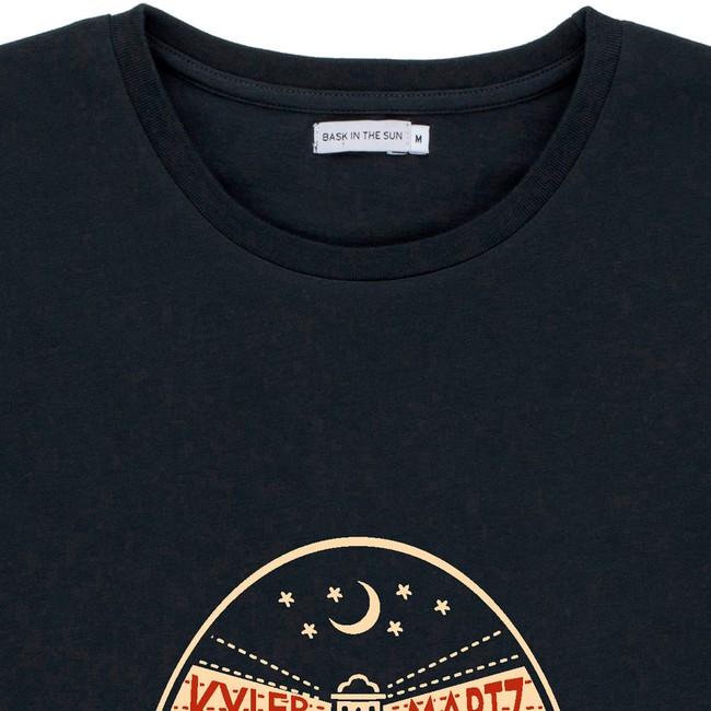 T-shirt en coton bio black oktopus - Bask in the Sun num 1