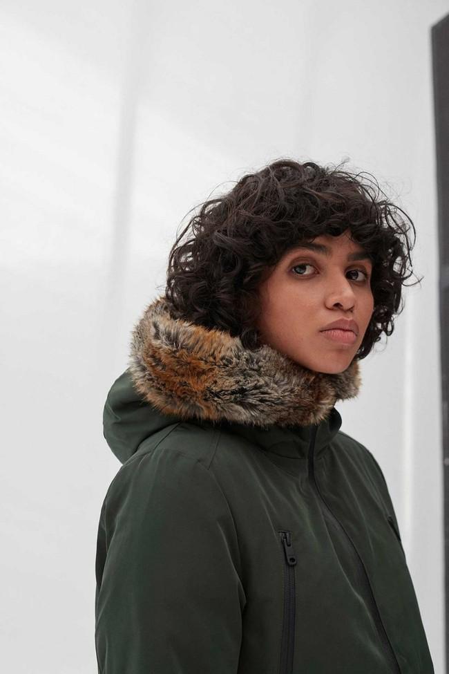 Manteau long vert en polyester recyclé - livorno - Ecoalf num 3