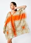 Robe theoule // orange imprimé - Bagarreuse - 2