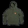 Kaki hoodie • orange logo - Omnia in uno - 3