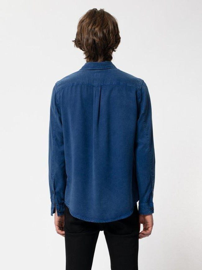 Chemise bleue en twill  - chuck smooth - Nudie Jeans num 1