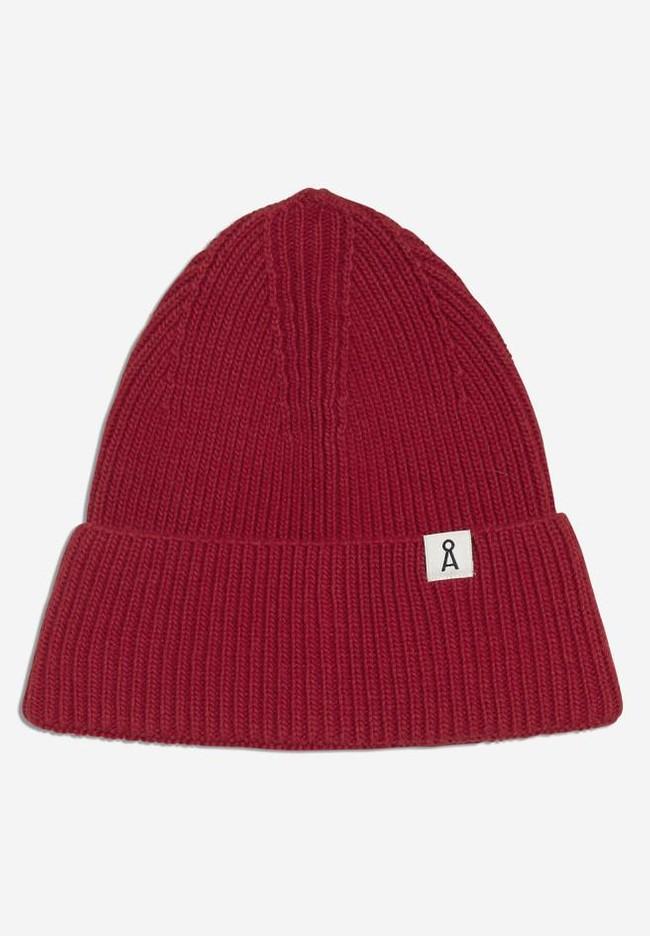 Bonnet rouge en coton et laine bio - maax - Armedangels