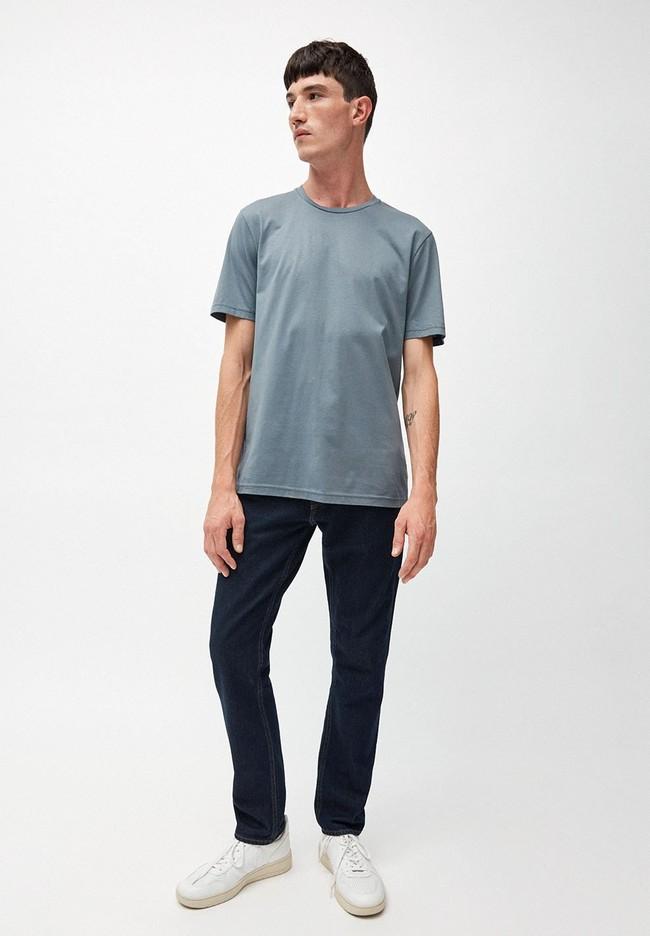 T-shirt bleu en coton bio - jaames - Armedangels num 3