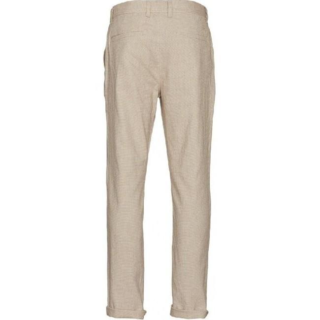 Chino droit beige en coton et lin bio - chuck - Knowledge Cotton Apparel num 1