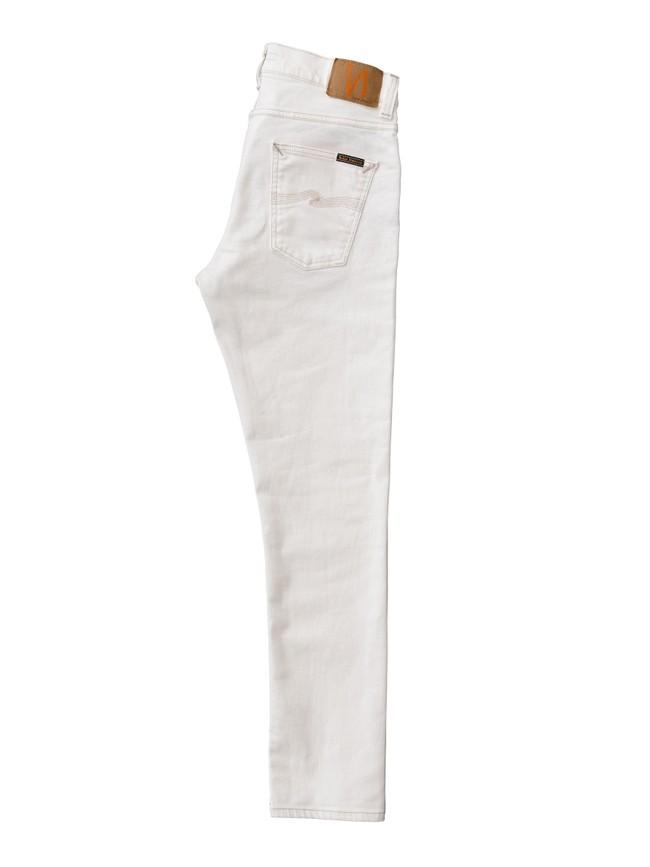 Jean slim blanc en coton bio - lean dean ecru - Nudie Jeans num 4