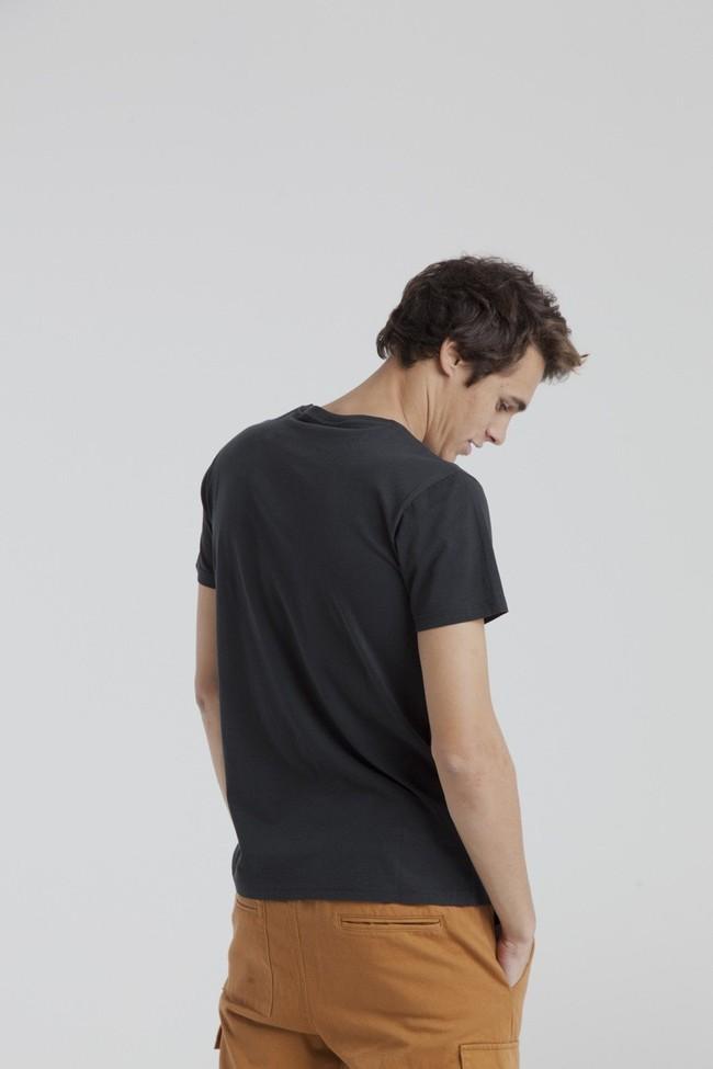 T-shirt imprimé noir en coton bio - casa - Thinking Mu num 3